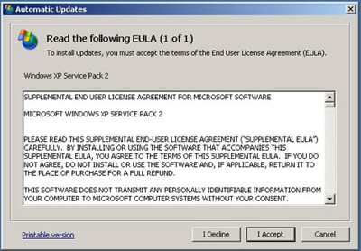 End User License Agreements