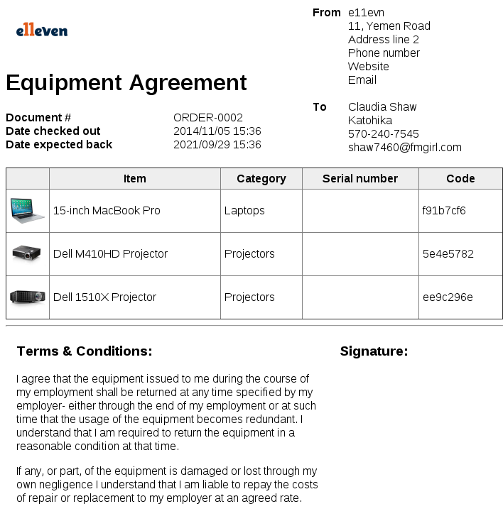 demo agreement template equipment loan agreement form pdf