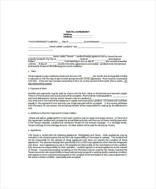 lease agreement example Mini.mfagency.co