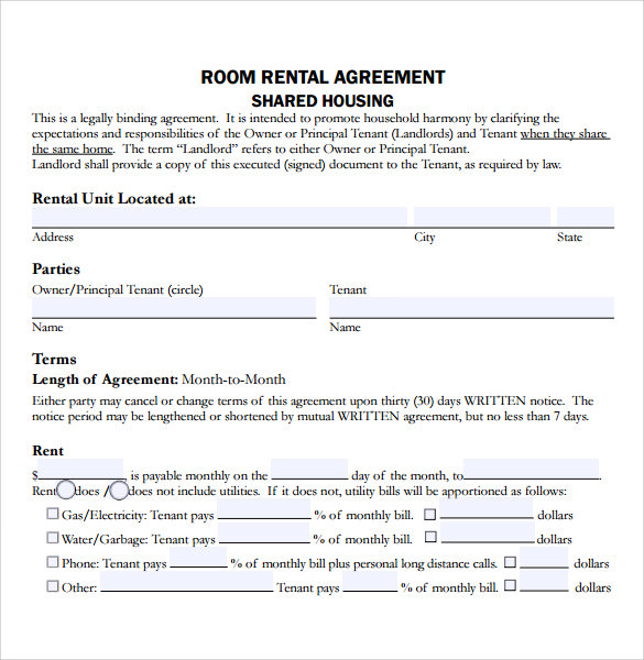 13+ Sample Residential Rental Agreements | Sample Templates