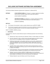 Exclusive Distribution Agreement Template & Sample Form