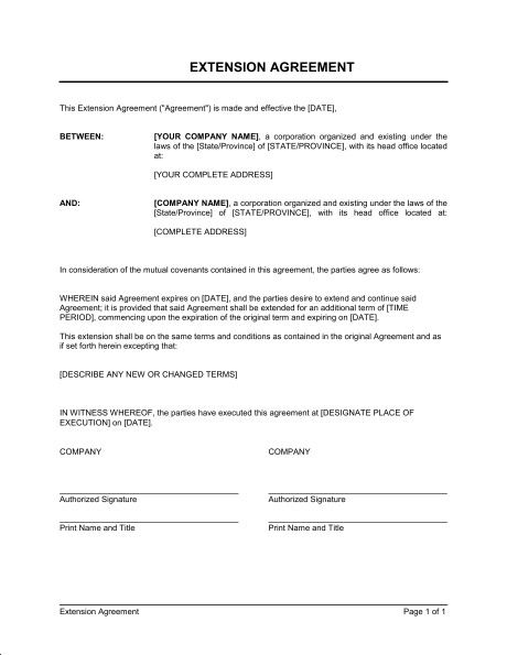 lease agreement extension template lease extension form lizlee.us
