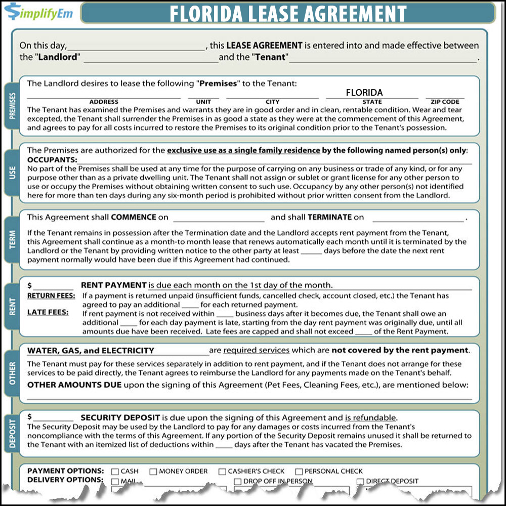 Florida Rental Lease