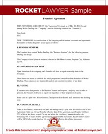 Founders' Agreement