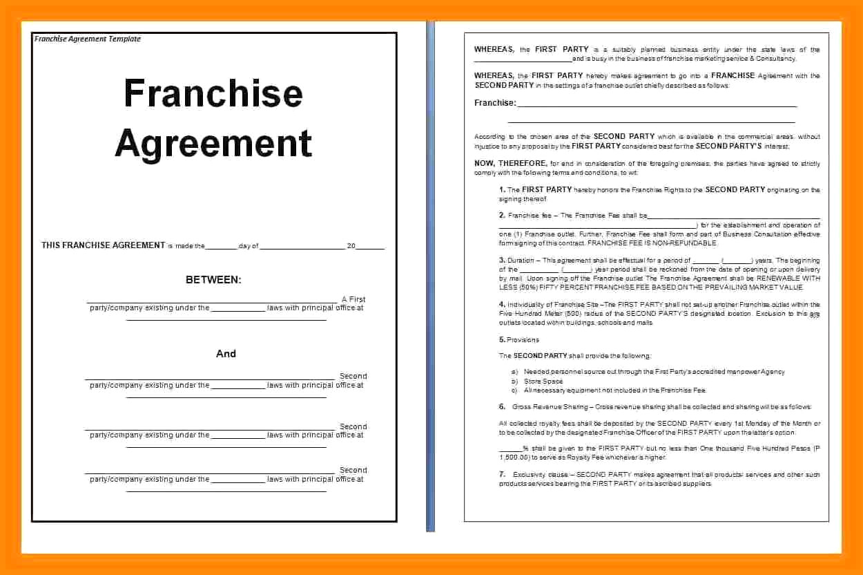 Franchise Agreement Sample 0 – bahamas schools