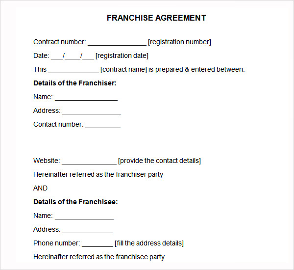 franchise agreement template pdf franchise template agreement