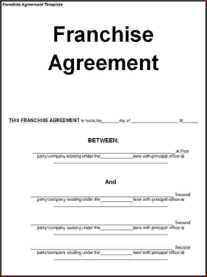 franchise agreement template south africa franchise agreement