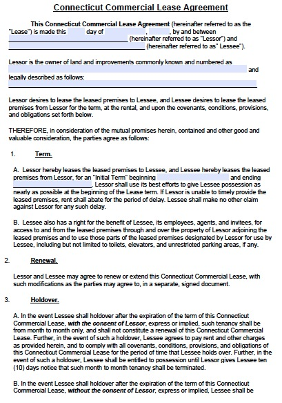 commercial lease agreement template pdf free commercial lease