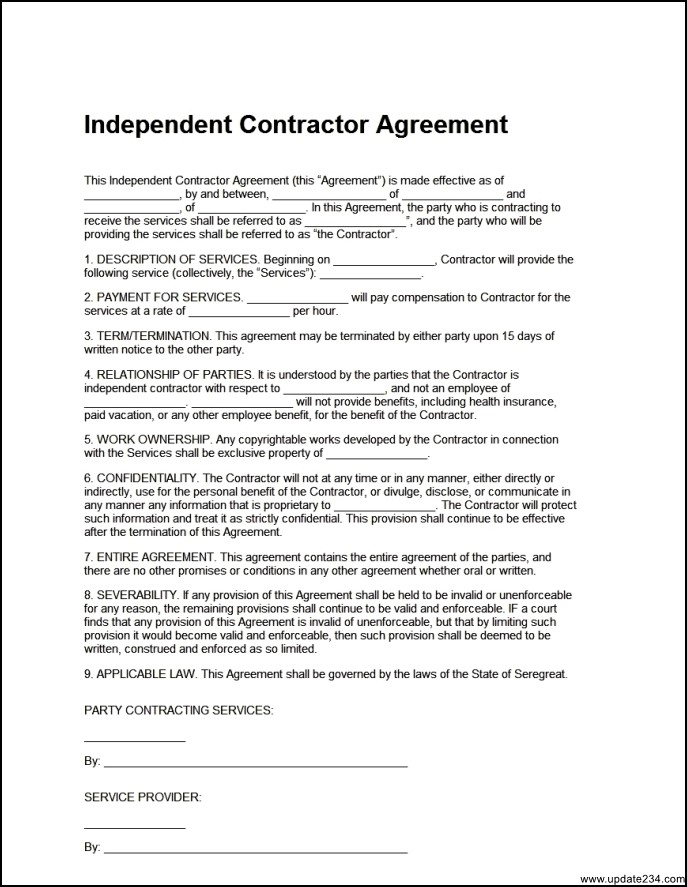 free contractor agreement template free contractor contracts