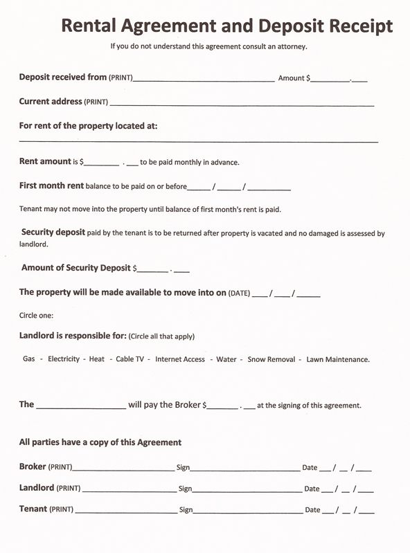 printable rental agreement template printable lease agreement