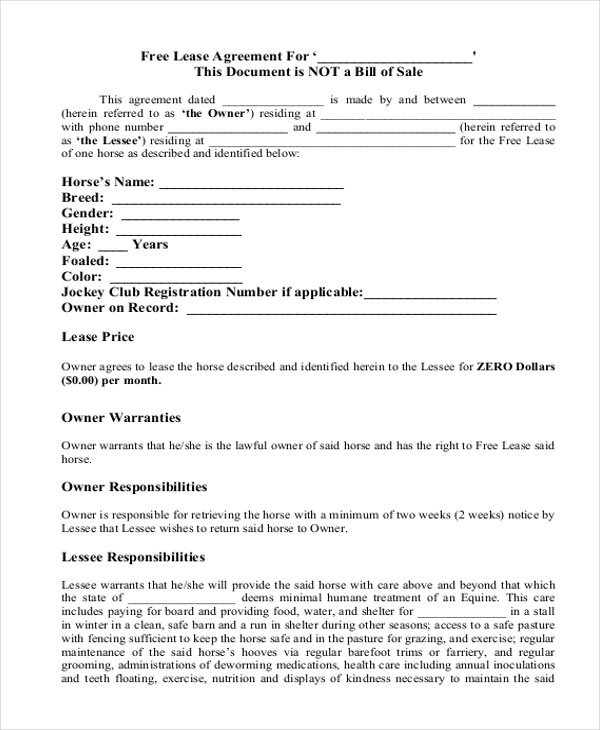 Simple Lease Agreement Form 10+ Free Documents in Doc, PDF