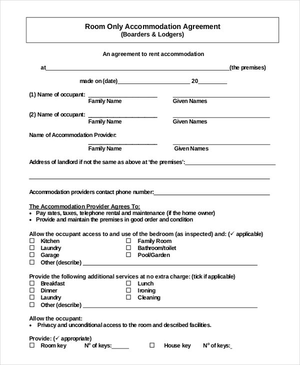 free simple room rental agreement template simple rental agreement