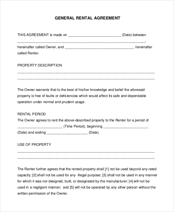 general lease agreement template general lease agreement template
