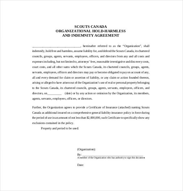 9+ Hold Harmless Agreement Templates– Free Sample, Example, Format