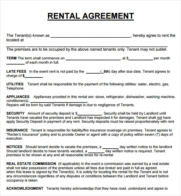 House rent agreement sample home rental agreement template private.
