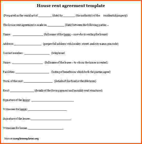 rent agreement template india rent agreement template india sample