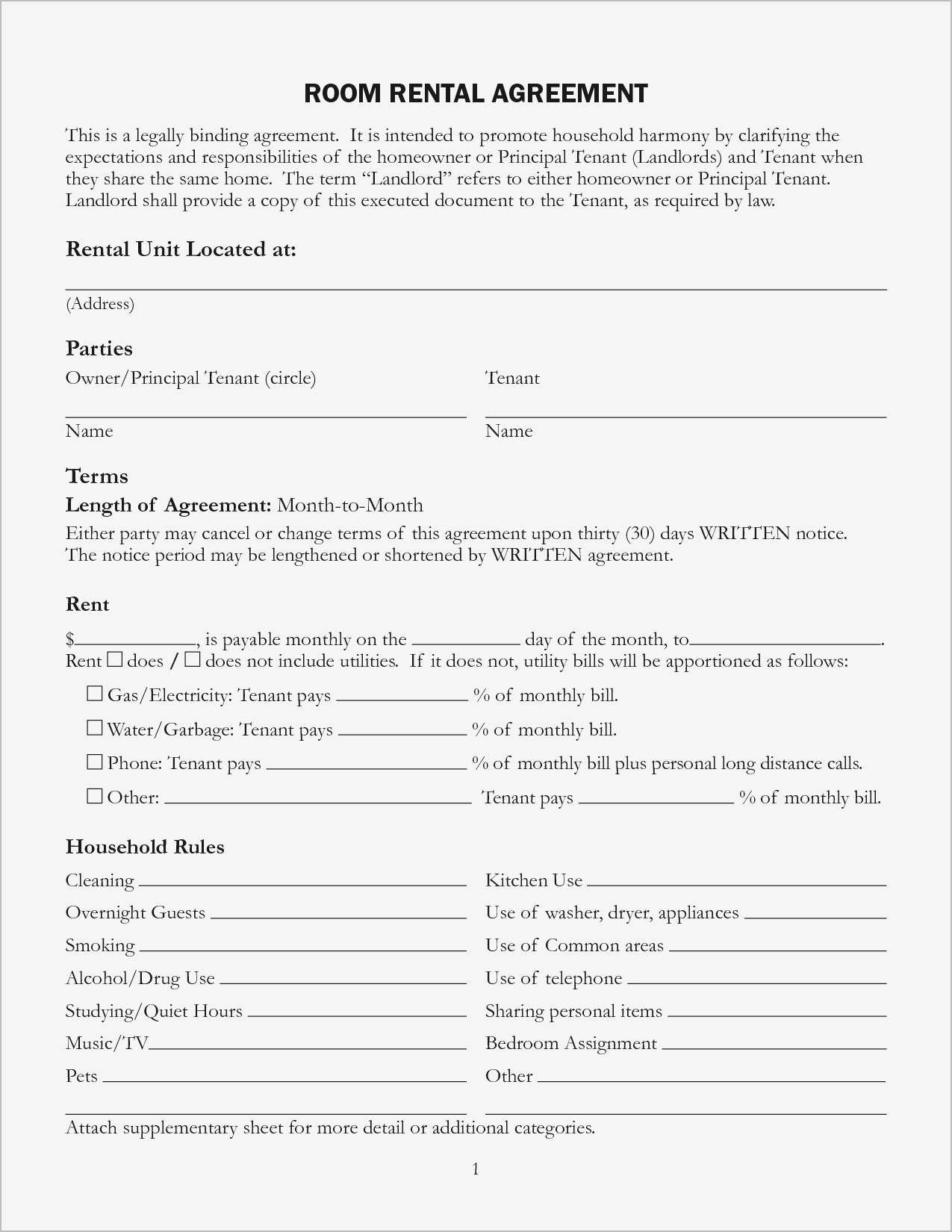 Housemate Agreement Luxury Roommate Rental Agreement Samples