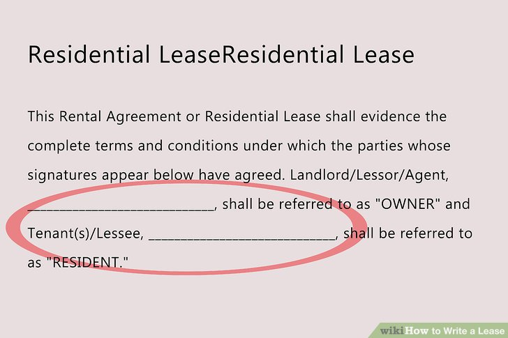 How to Write a Lease: 12 Steps (with Pictures) wikiHow