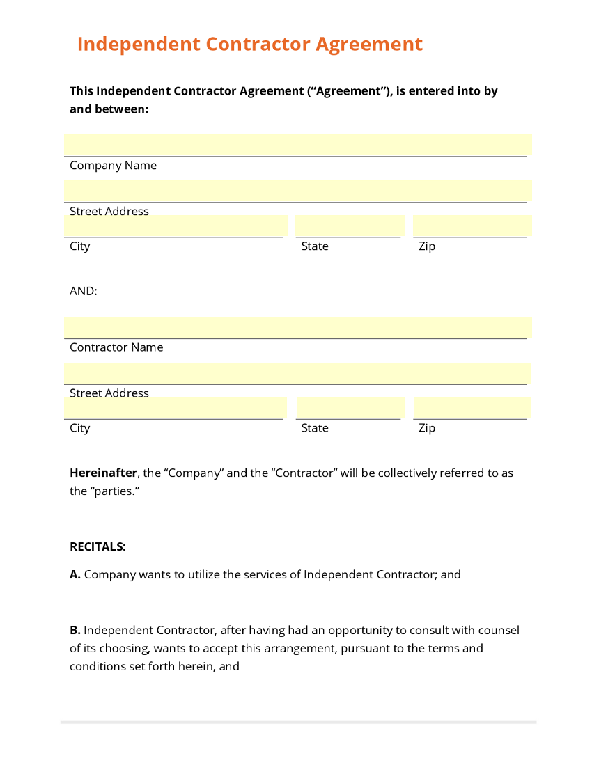 Independent Contractor Agreement Texas Gtld World Congress