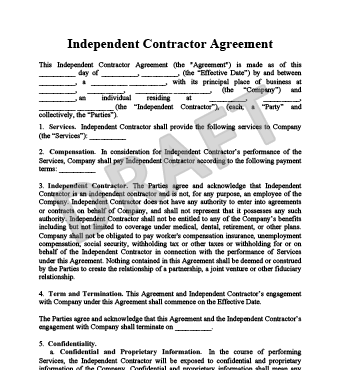 independent contractor agreement texas template 1099 agreement