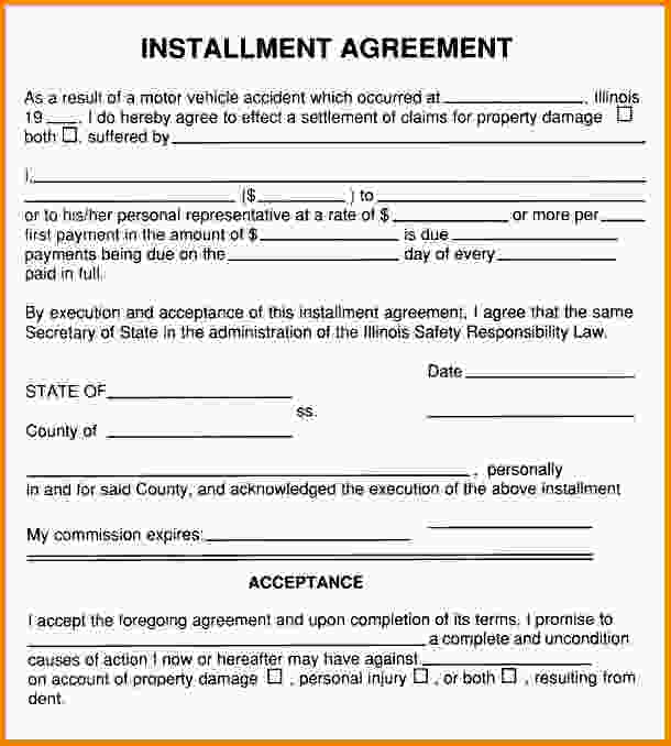 installment payment plan agreement template installment agreement