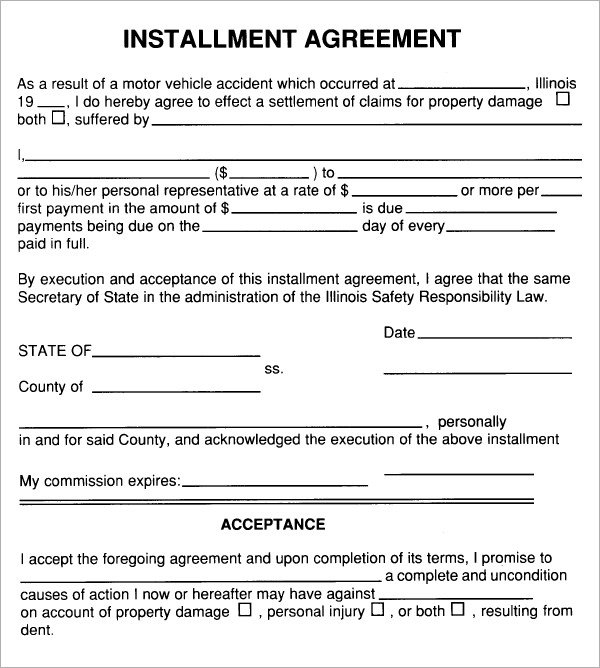 installment plan agreement template installment payment agreement