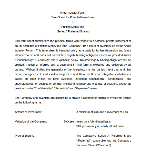 Investors Agreement Investor Contract Agreement (Form With Sample)