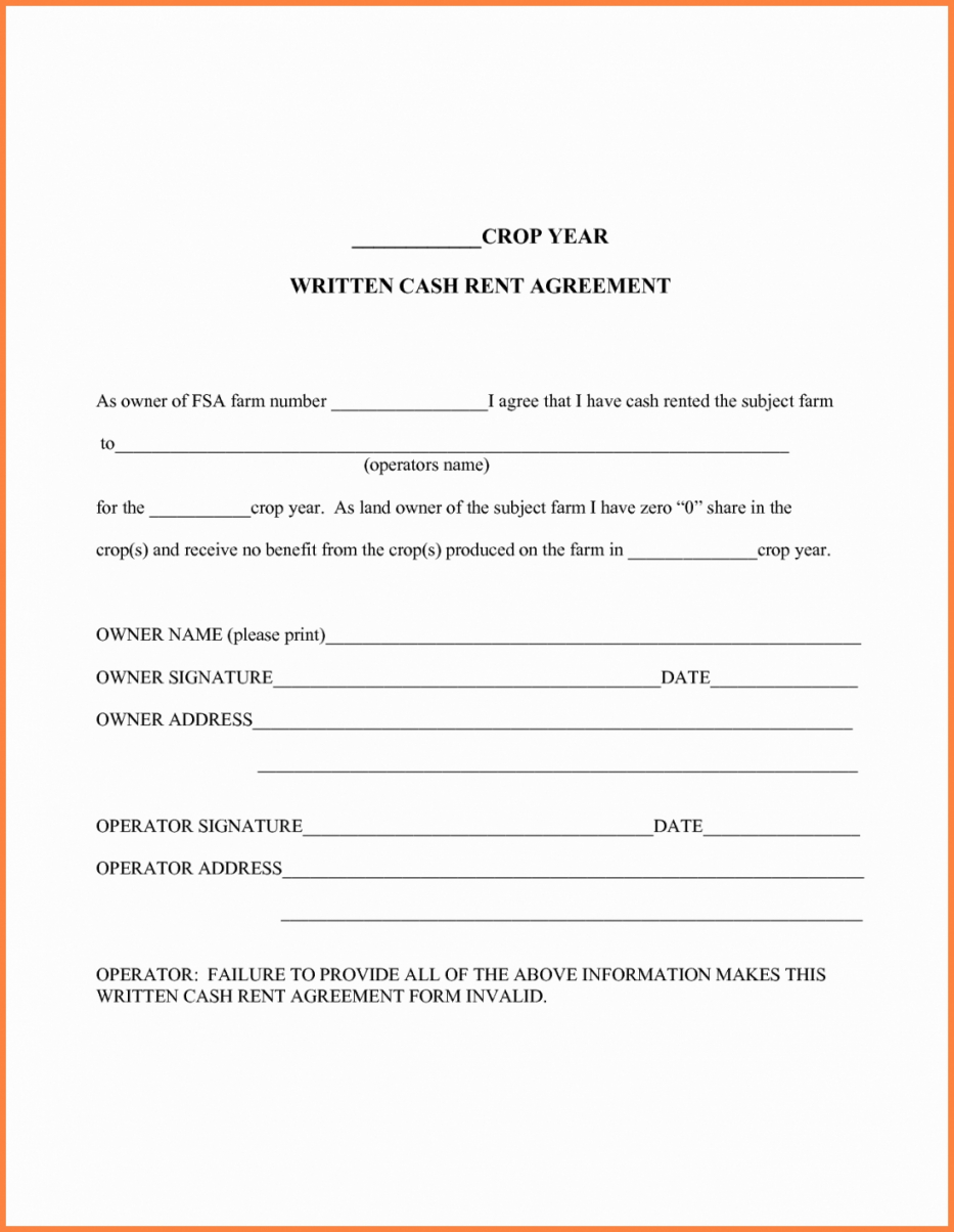 Land Rental Agreement Template Farm Land Lease Agreement Template