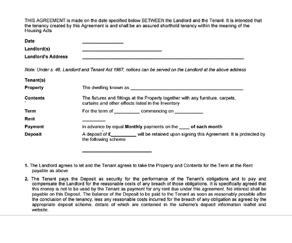 tenancy agreement template free download is it possible to get