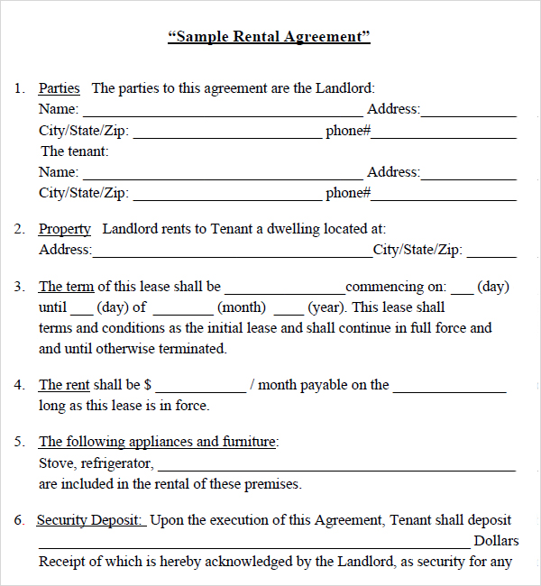 home rental lease agreement templates house rental lease agreement