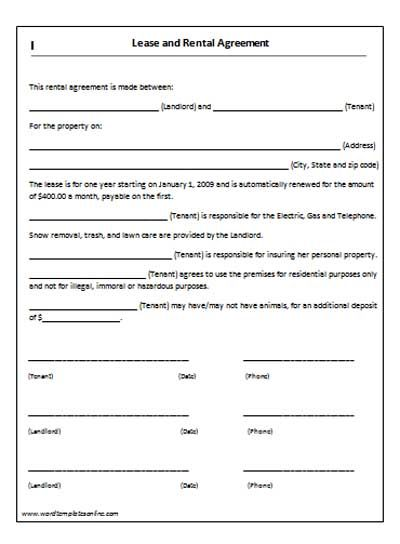 rental property lease agreement template rental house lease