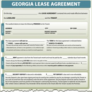 Sample Lease Agreement Georgia