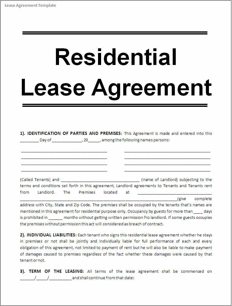 microsoft word rental agreement template template lease