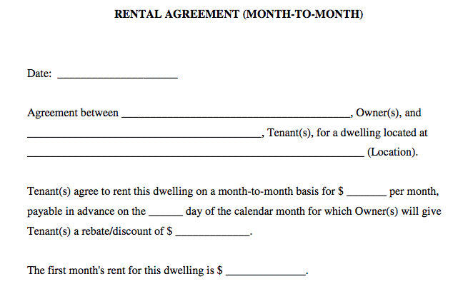 Basic Rental Agreement Or Residential Lease | bravebtr