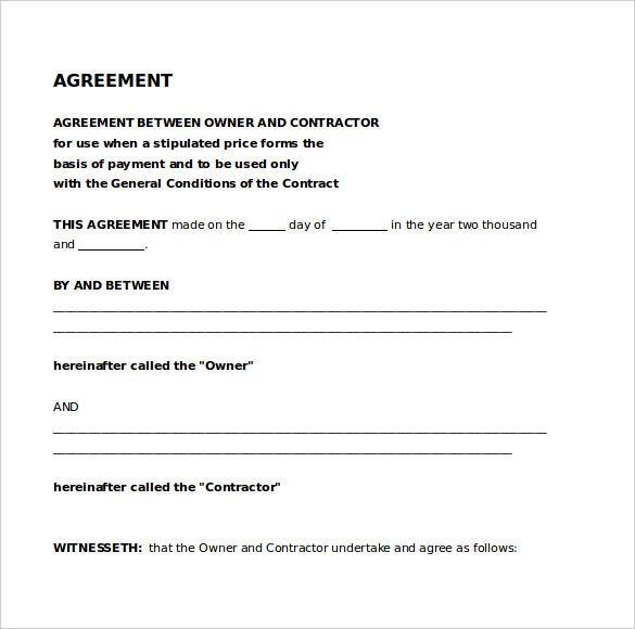 legal agreements templates legal agreement template 9 free word