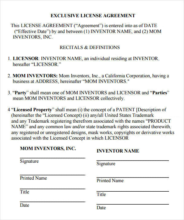 housing licence agreement template product license agreement