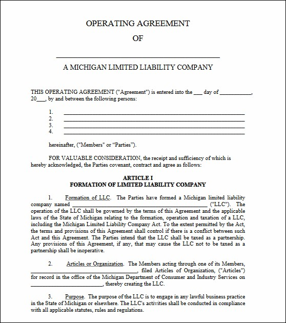 Comments Llc Operating Agreement Michigan Lovely Ira Llc Operating