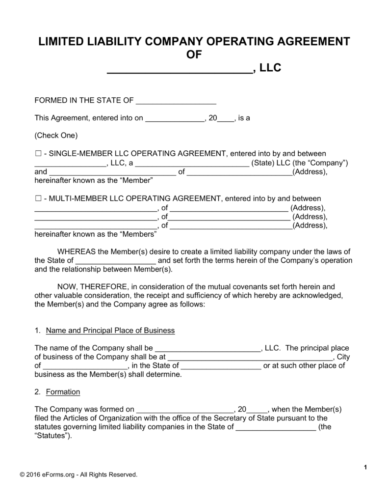 Llc Partnership Agreement Template | Template Idea inside Sample