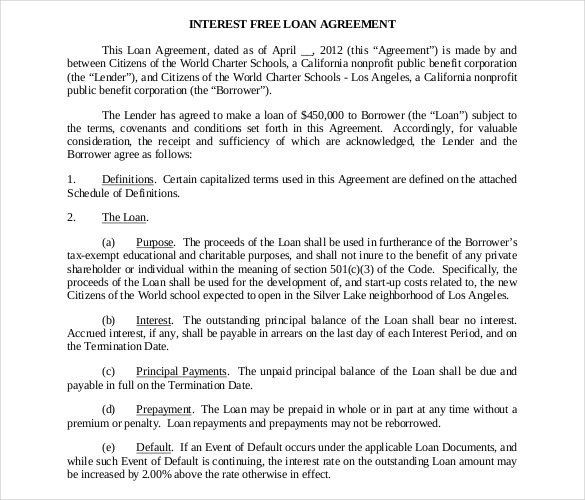 Loan Agreement Itemization Elegant 14 Luxury Loan Agreement Pdf