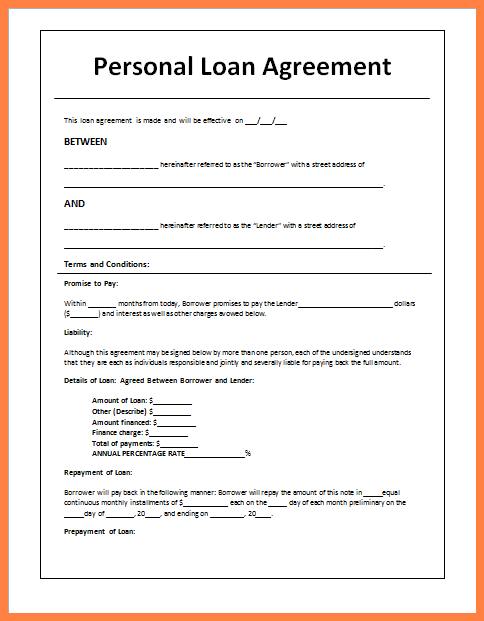 loan payment agreement letter template 5 loan agreement templates