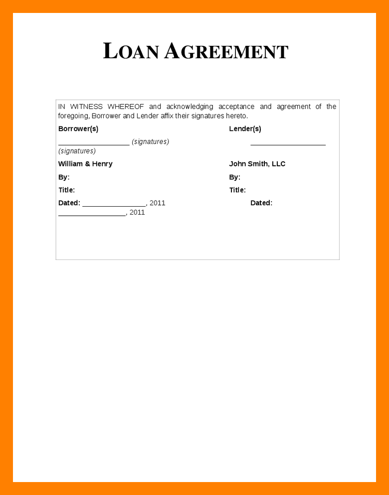 loan agreement between friends template personal loan agreement