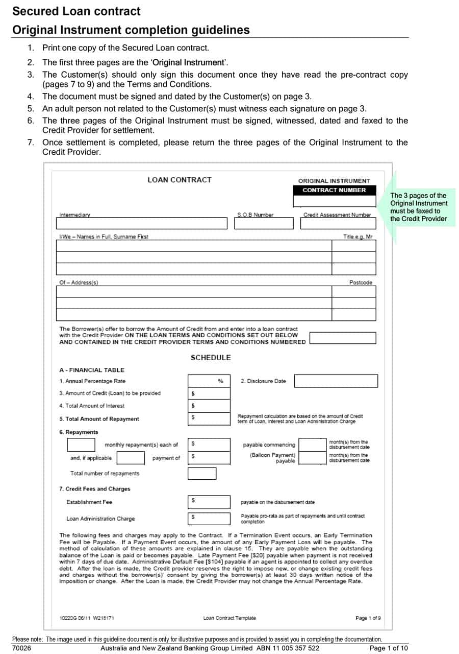 loan repayment agreement template free 5 loan agreement templates