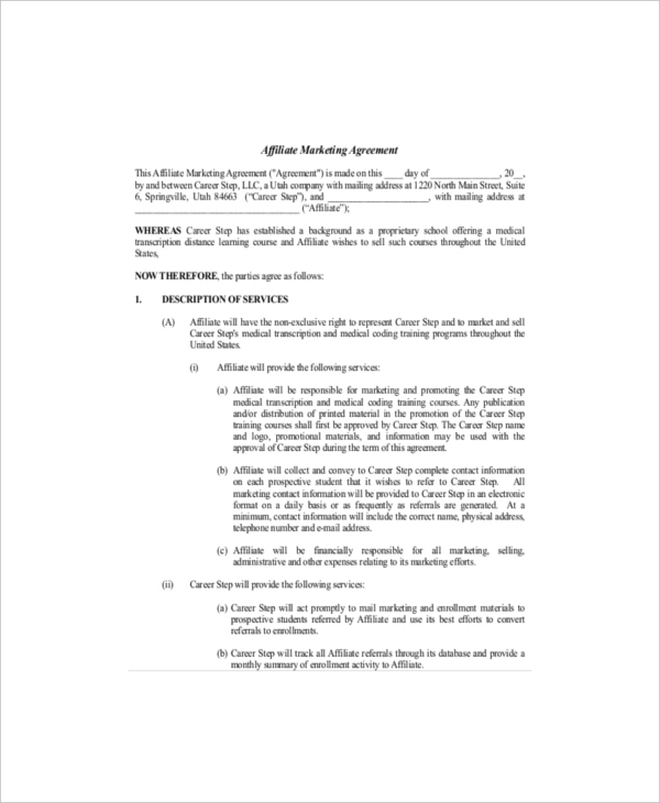 20+ Marketing Agreement Template – Free Sample, Example, Format