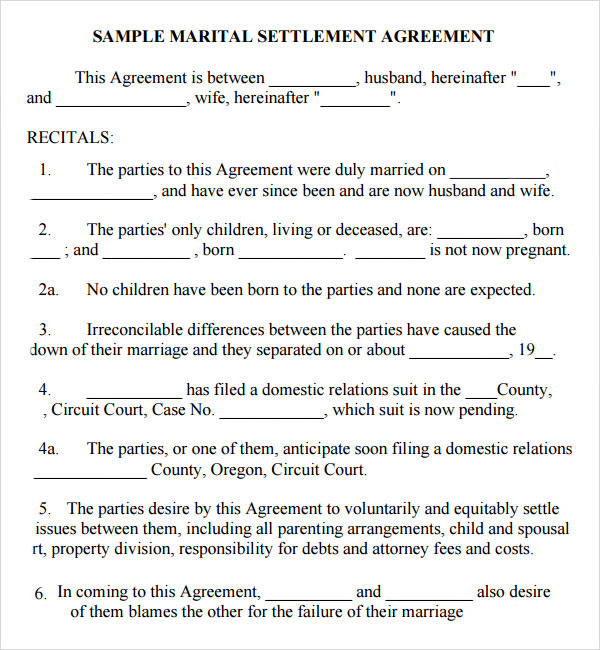 15 Sample Marriage Contract Template to Download | Sample Templates