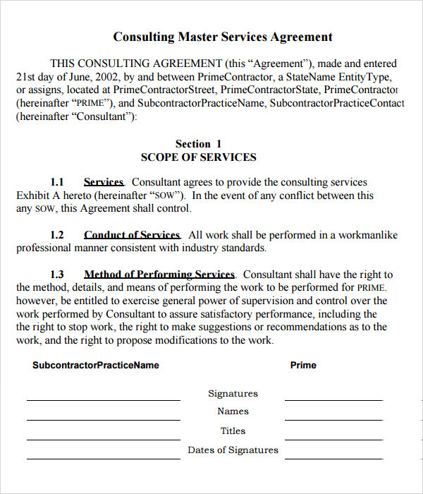 master service agreement template master service agreement