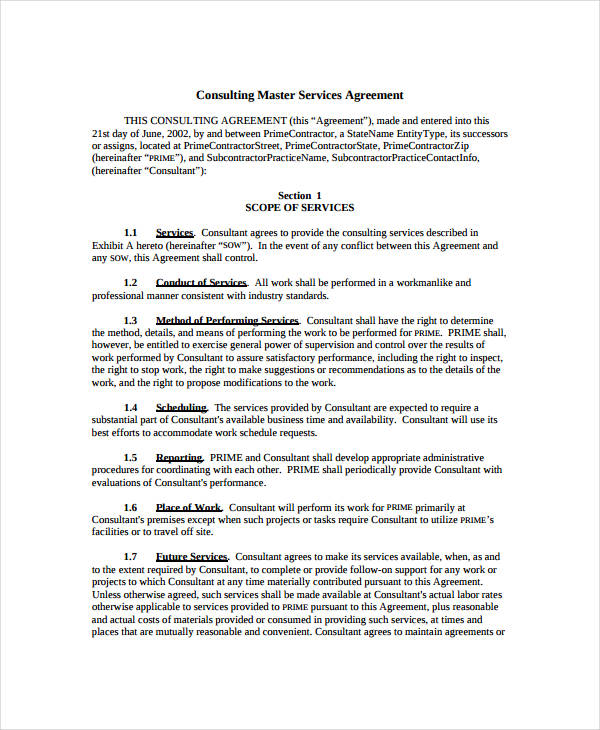 master services agreement template master services agreement