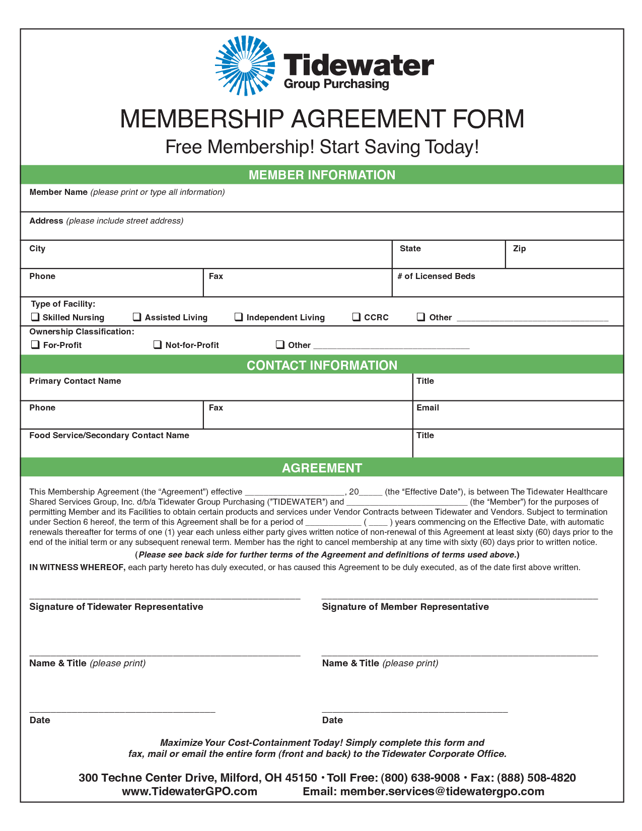 Membership Agreement | The Association of Fitness Studios