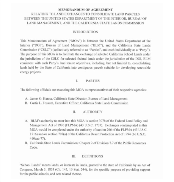13+ Memorandum of Agreement Templates PDF, DOC | Free & Premium