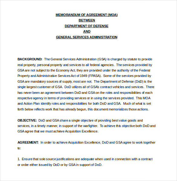 memorandum of agreement template philippines template for