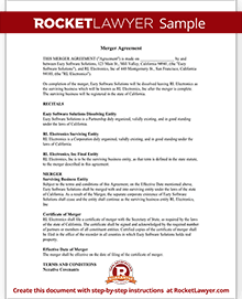 Merger Agreement Form Merger Agreement Template (with Sample)